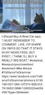 Cat Meme Boat - 25 best memes about i should buy a boat cat i should buy a
