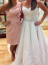 What Color Goes With Light Pink by Help What Color Of Bridesmaid Dresses Go With This Wedding Dress