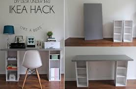 Desks For Small Space Furniture Inspiring White And Grey Diy Set Up Small Space Desk
