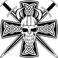 celtic cross and skull stock vector illustration of sword 22066163