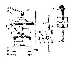 Kitchen Sink Faucet Parts Diagram Kenmore Sears Single Lever Kitchen Sink Faucet Parts Model