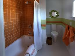 bathroom decor for kids with white wall ideas home bathroom stunning kids bathroom ideas with orange ceramic wall