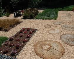 Backyard Stepping Stones by Pea Gravel And Step Stones Houzz