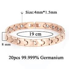 germanium health bracelet images Buy 38 magnetic full rose gold plating health jpg