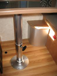 telescoping dining table table knockout the rv remodel dining table pedestal rv pedestal