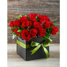roses in a box in a bag roses in a gift box inmotion flowers