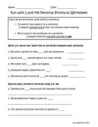 personal pronouns worksheets englishlinx com board pinterest