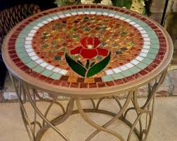 Mosaic Patio Furniture Mosaic Patio Table Etsy