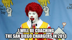 San Diego Meme - i will be coaching the san diego chargers in 2013 untitled meme