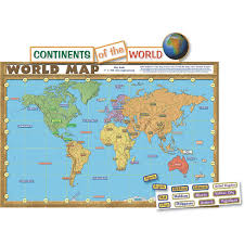 Flat Map Of World by Amazon Com Teacher Created Resources World Map Bulletin Board