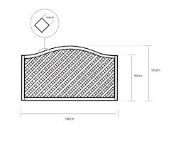 1 8m x 1 05m elite st meloir trellis panel grange fencing