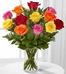 multi colored roses multi colored roses vase of roses in largo fl garden
