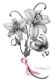 breast cancer tyler lily tattoo design by lil shegan on deviantart