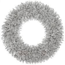 martha stewart living 22 in silver glitter wood wreath
