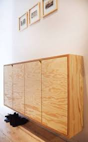 sliding cabinet doors and discreet handles keep the looking