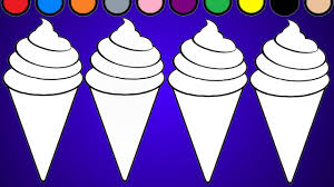 ice cream coloring page learn colors youtube