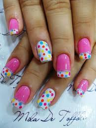 pink and white polka dot nails pictures photos and images for