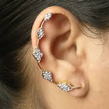buy pair of gold plated trendy ear cuffs earcuff68 g online best