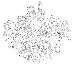 princess outlines google disney princess silhouettes