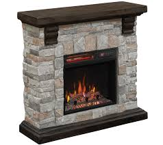 duraflame infrared quartz stone mantel heater with flame effect
