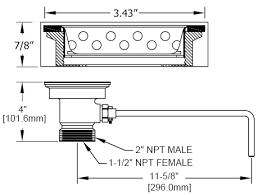 Kitchen Sink Drain Diameter Kitchen Sink Drain Size Visionexchange Co