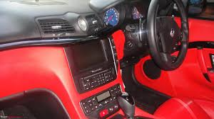 maserati granturismo red interior exclusive pics black maserati granturismo in mumbai edit a