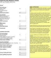Opening Balance Sheet Template Balance Sheet Template Free Premium Templates Forms