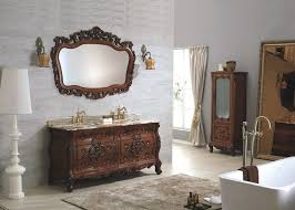 Bathroom Wall Hung Vanities Antique Classic Wooden Bathroom Funiture Wall Hung Vanity Unit