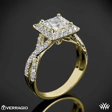 Square Wedding Rings by Verragio Square Halo Diamond Engagement Ring 1940