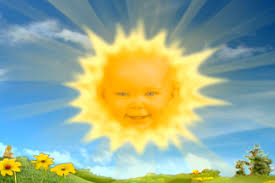 teletubbies baby played giggling sun