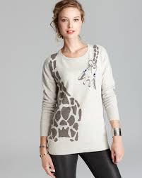 aqua giraffe cashmere sweater on the hunt