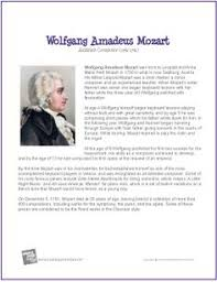 wolfgang amadeus mozart composer word search worksheet http