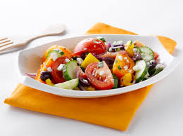 sunset glorious greek salad with english cucumber and feta
