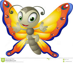 cartoon butterfly on a white background stock vector image 55877444