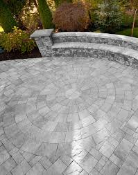Circular Paver Patio Slate Circle Hardscaping Ideas By Cst Pavers And Versa Lok