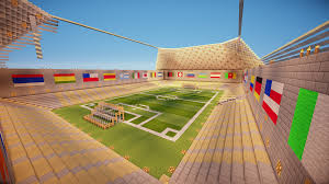 minecraft sports stadium wip i am really liking how my soccer stadium is turning out