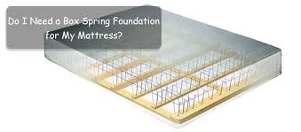 do i need a box spring foundation for my mattress the facts