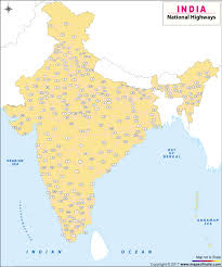 World Map Of India by Large Map Of National Highways In India