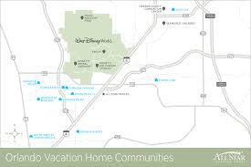 Map Of Orlando Florida Area by Orlando Kissimmee Vacation Rental Communities Near Disney World