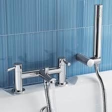 belinda bathroom taps chrome bath filler mixer tap with hand