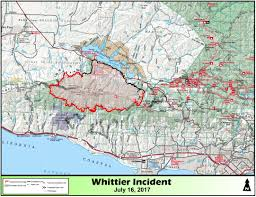 Usfs Fire Map Whittier Fire Is Now 100 Percent Contained 18 430 Acres Burned Keyt