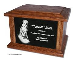 cremation urns for pets custom made pet urn photo laser etched granite with your pet s