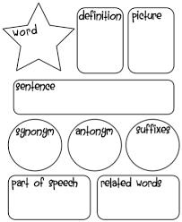 organizing synonym vocabulary graphic organizer vocabulary graphic organizer