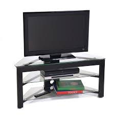 Clear Corner Desk by Black Wood U0026 Clear Glass Corner Flat Screen Tv Stand U2013 Tvstand Com