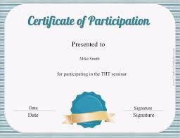 free certificate of participation customize online u0026 print