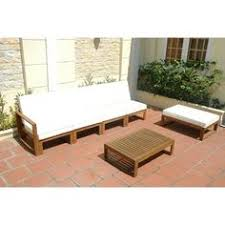 Outdoor Sofa Sectional Set Jenner Wooden 6 Piece Outdoor Sofa Sectional Set Seats 5 Sofa