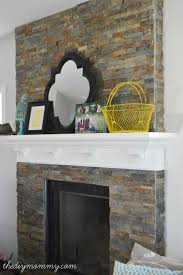 Stone Wall Tiles For Living Room Building Our Fireplace Installing The Slate Split Face Tile U2013 Our
