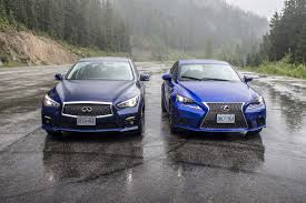 lexus infiniti g35 comparison test 2016 lexus is 350 f sport awd vs infiniti q50 red