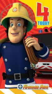 age 4 fireman sam birthday card