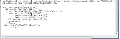 membuat teks berjalan menggunakan html belajar membuat html gina muthia